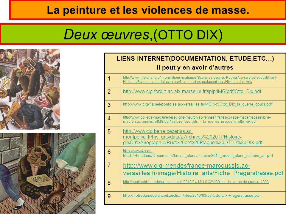 La peinture et les violences de masse.