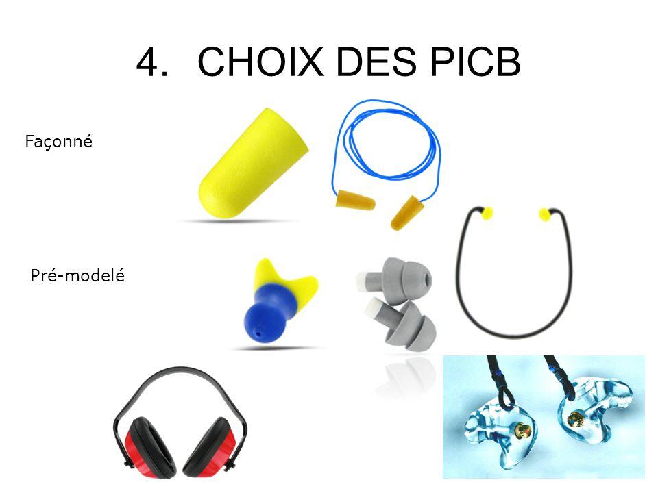 4.CHOIX DES PICB Façonné Pré-modelé