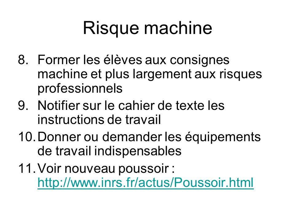 Tableau des niveaux sonores par type de machine