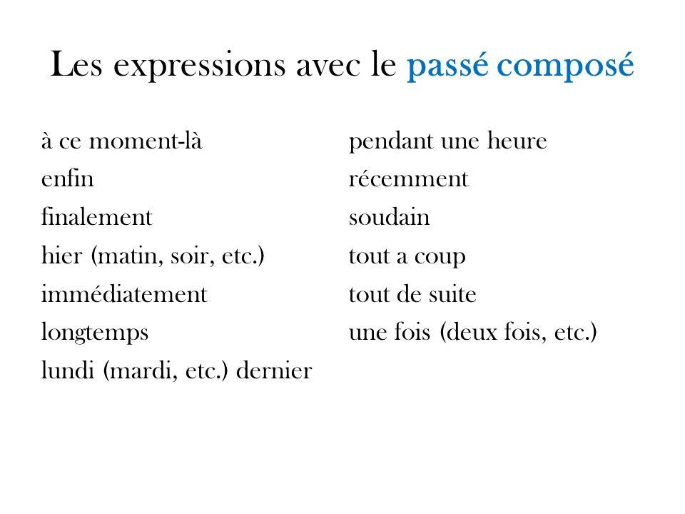 Le placement des adverbes avec le passé composé *These short adverbs go between the helping verb and the past participle.
