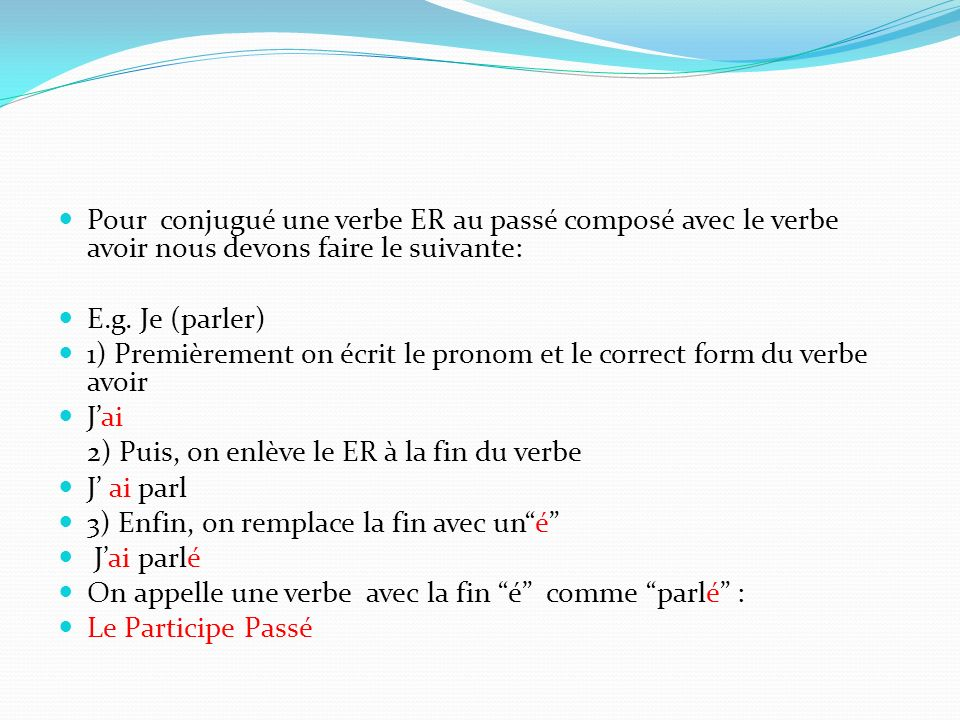 """french verb essayer passe compose 2 the imperfective past tense in french there is only one, and it is called: the imperfect (l'imparfait)strictly speaking, it is the past imperfect, but since a formal perfective-imperfective distinction occurs only in the past tenses, we can get by calling the past imperfective tense simply """"the imperfect."""