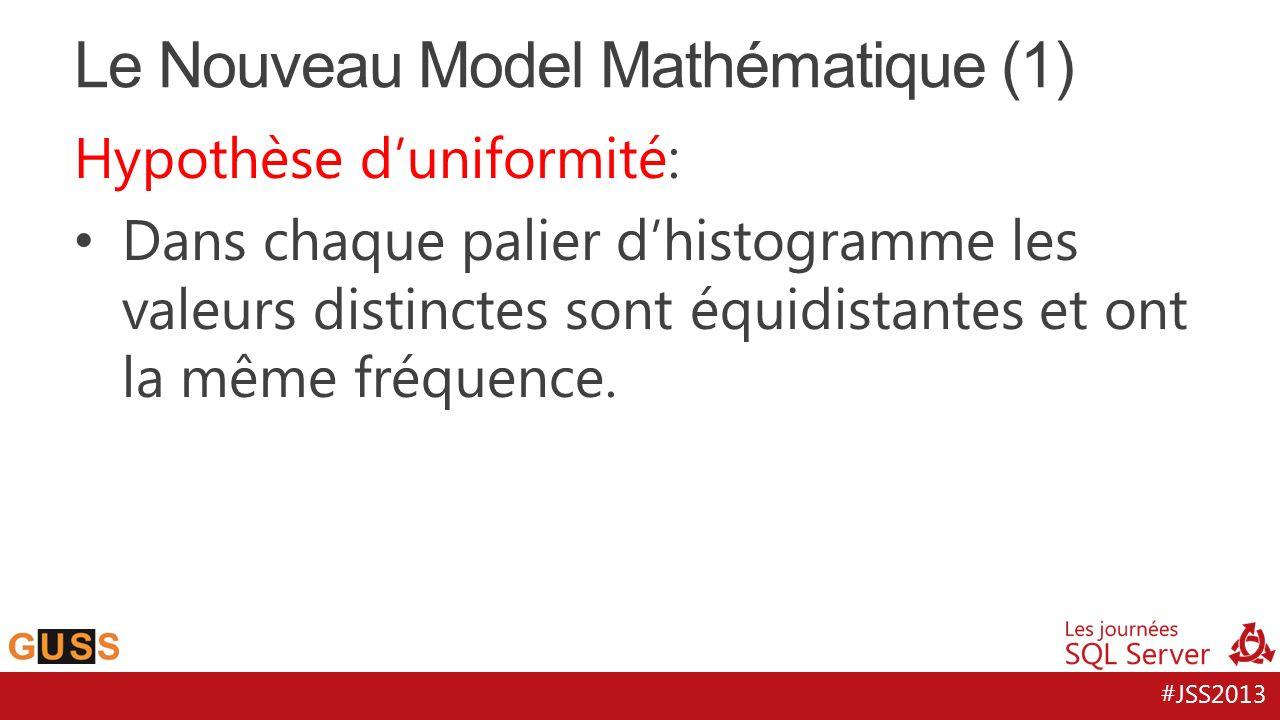#JSS2013 Hypothèse duniformité: Dans chaque palier dhistogramme les valeurs distinctes sont équidistantes et ont la même fréquence.