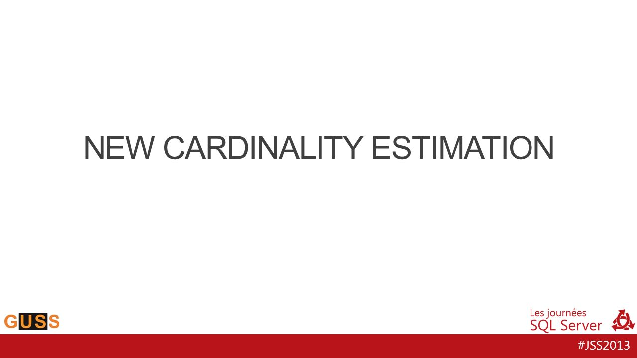 #JSS2013 NEW CARDINALITY ESTIMATION
