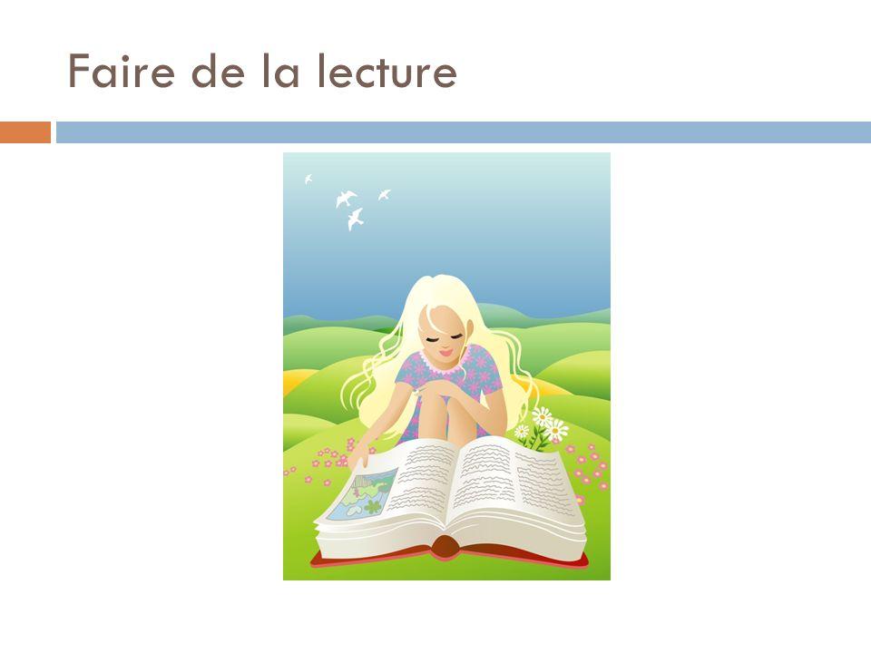 Faire de la lecture