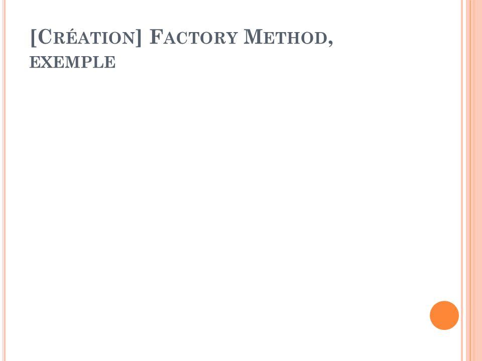 [C RÉATION ] F ACTORY M ETHOD, EXEMPLE