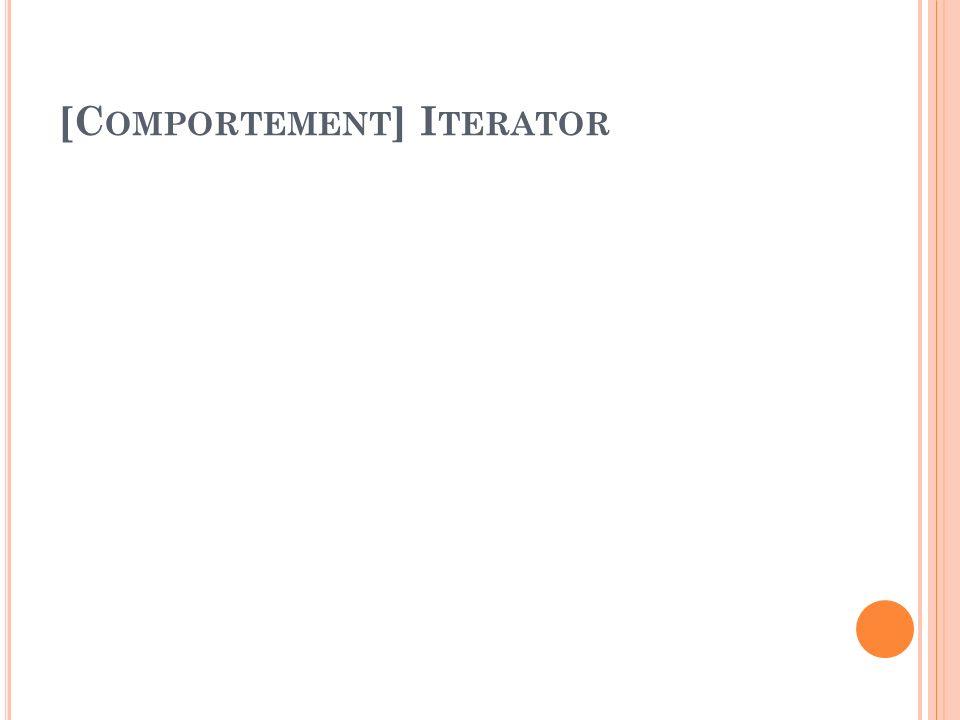 [C OMPORTEMENT ] I TERATOR