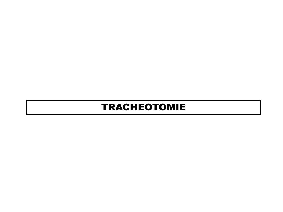 DEFINITION Ouverture de la trachée entre le 2è et le 3è anneau trachéal afin dintroduire une canule de trachéotomie.