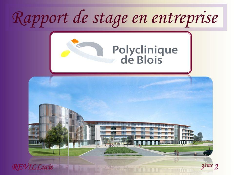 Rapport de stage en entreprise REVIL Lucie3 ème 2