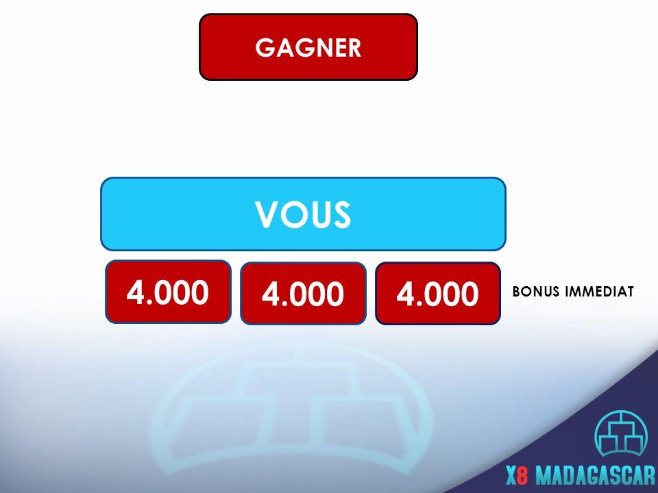 VOUS 4.000 BONUS IMMEDIAT GAGNER