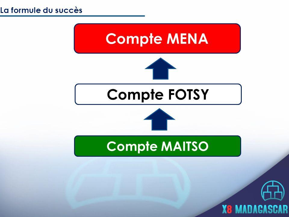 Compte FOTSY Compte MAITSO La formule du succès Compte MENA