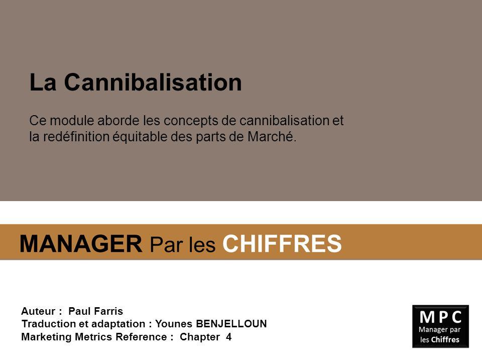 La Cannibalisation Ce module aborde les concepts de cannibalisation et la redéfinition équitable des parts de Marché. Auteur : Paul Farris Traduction