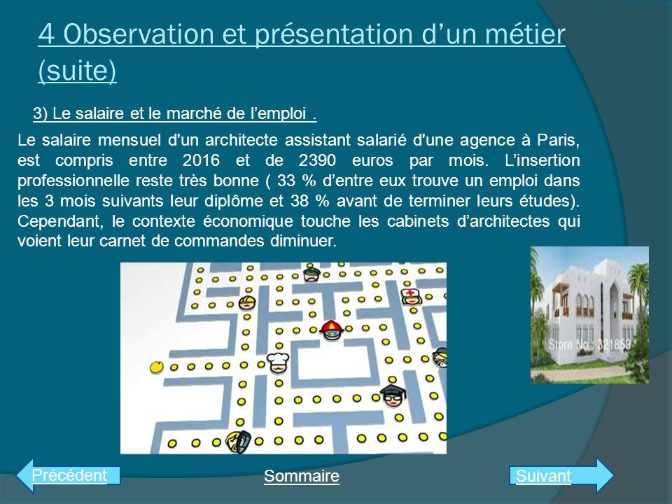 3) Observation et présentation dun métier: architecte.