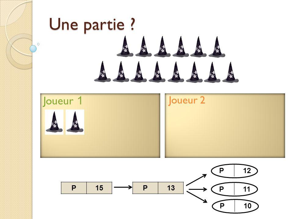 Joueur 2 Joueur 1 Une partie ? P13P15 P12 P11 P10