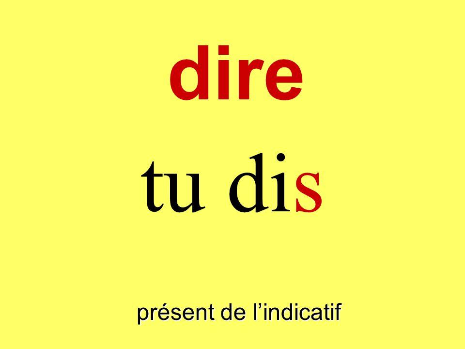 présent de lindicatif je dis dire