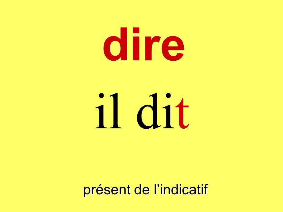 présent de lindicatif tu dis dire