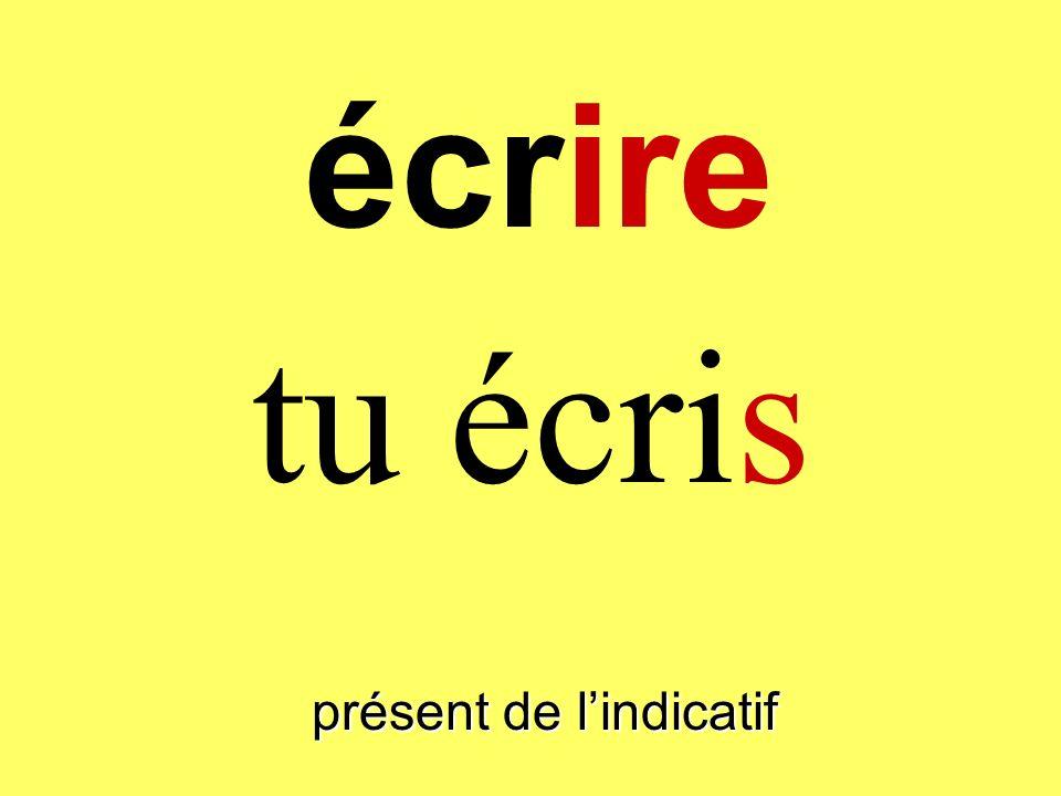 présent de lindicatif jécris écrire