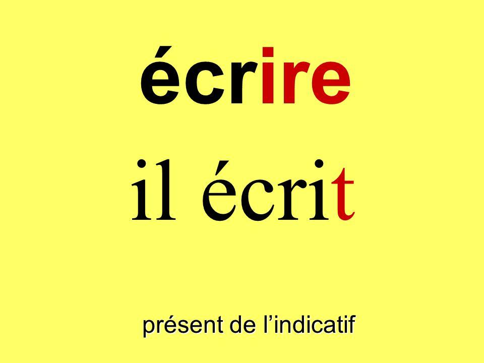 présent de lindicatif tu écris écrire