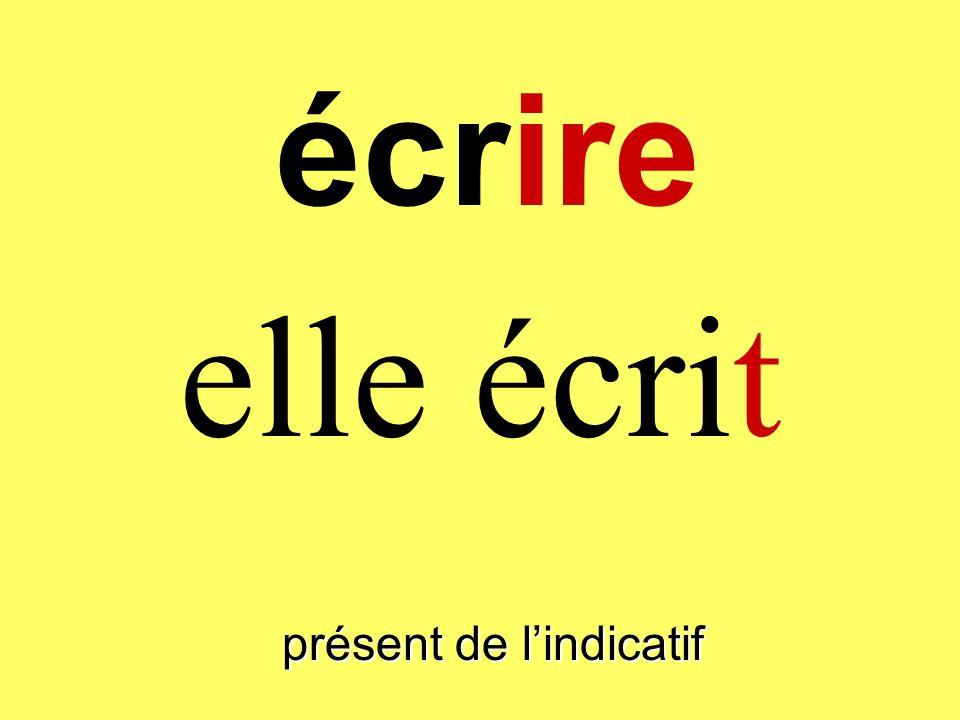 présent de lindicatif elle écrit écrire