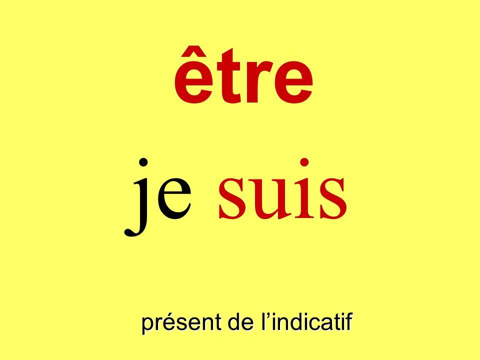 être présent de lindicatif