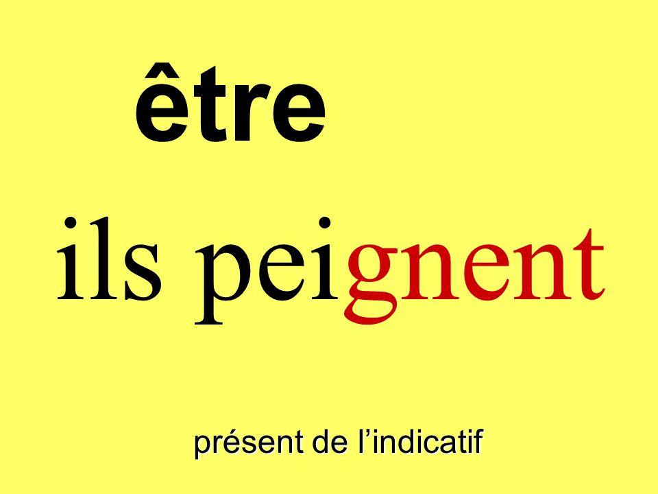 présent de lindicatif vous peignez être