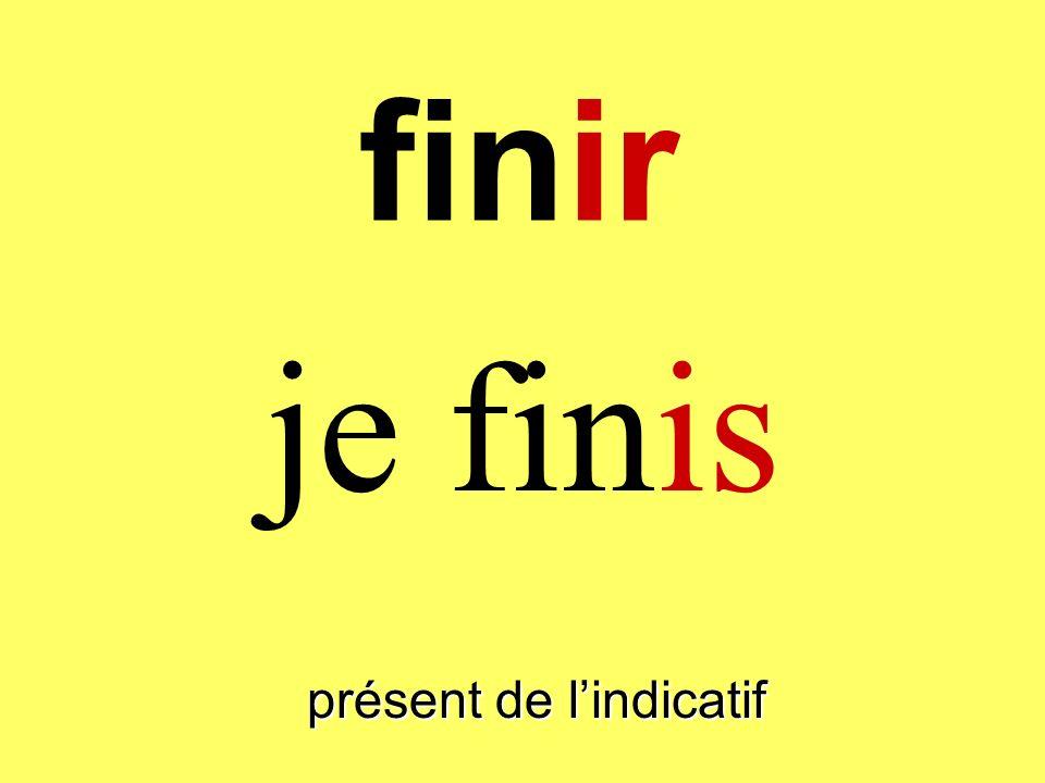 finir présent de lindicatif