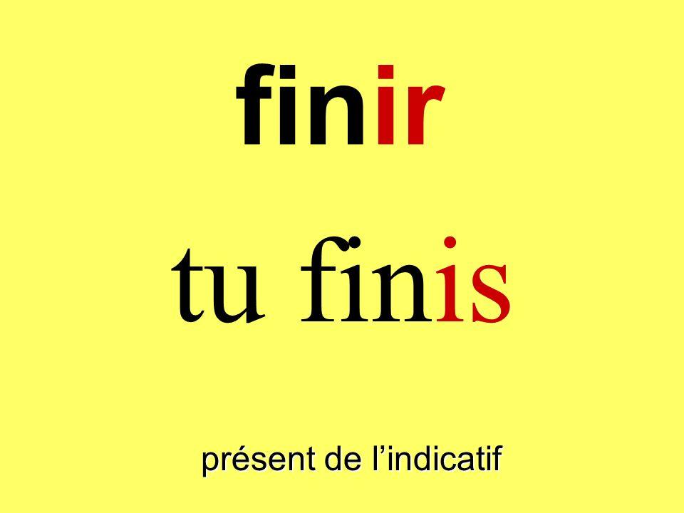 finir tu finis présent de lindicatif