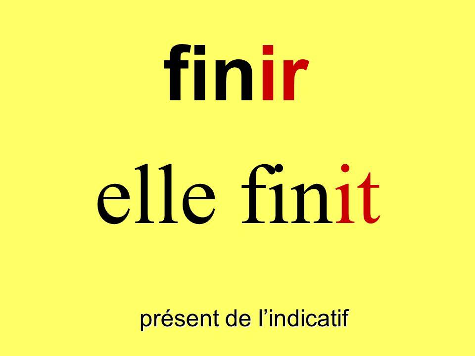 finir elle finit présent de lindicatif
