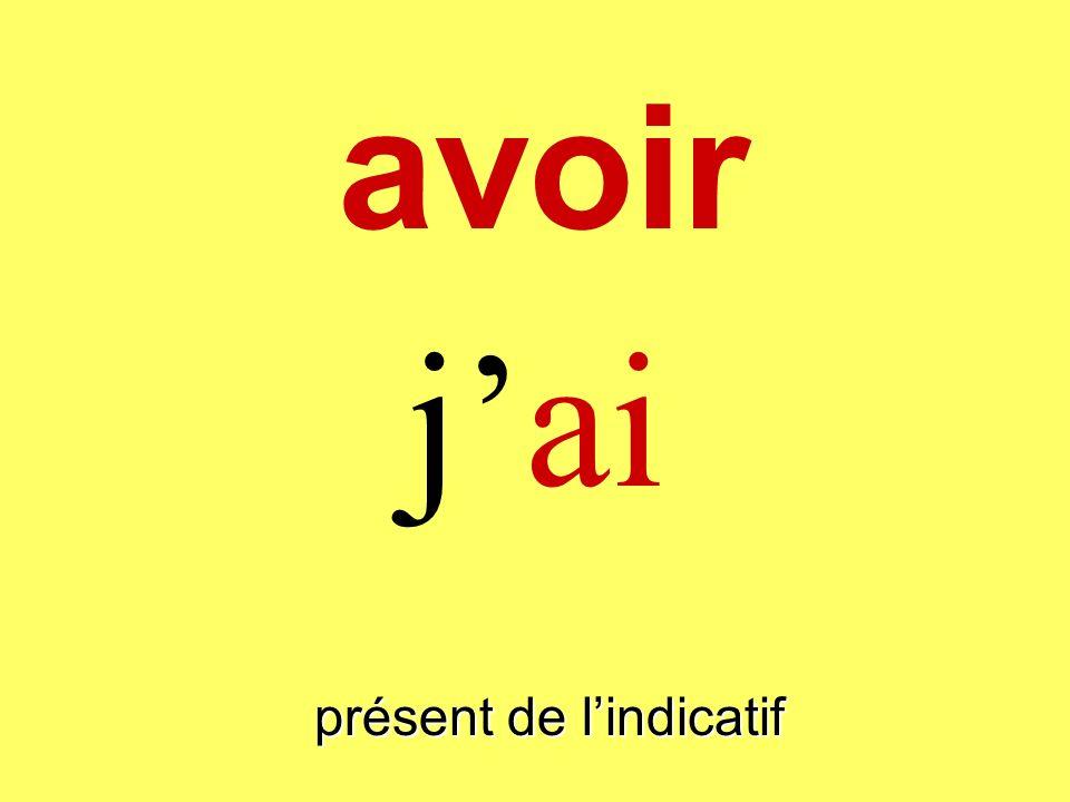 présent de lindicatif jai avoir