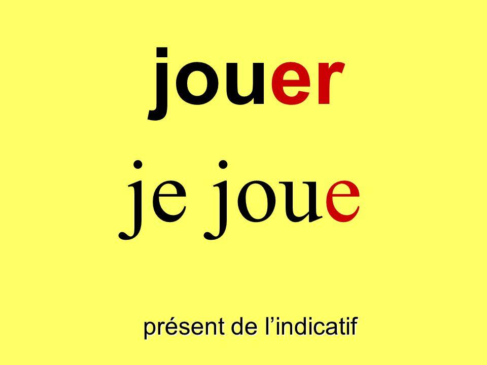 jouer présent de lindicatif