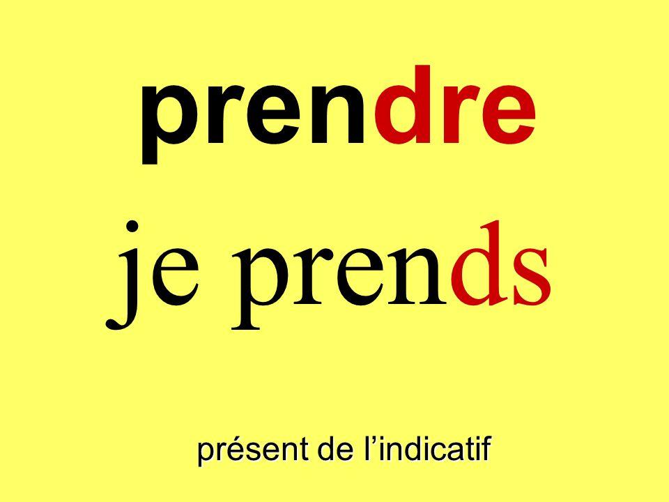 prendre présent de lindicatif