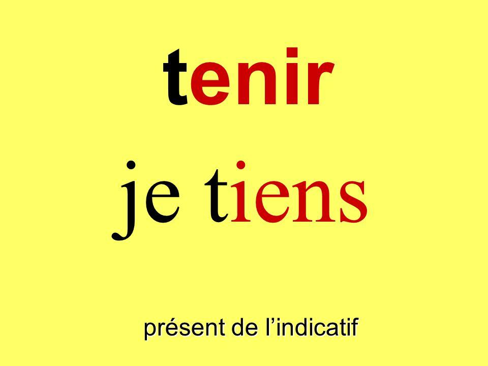 tenir présent de lindicatif