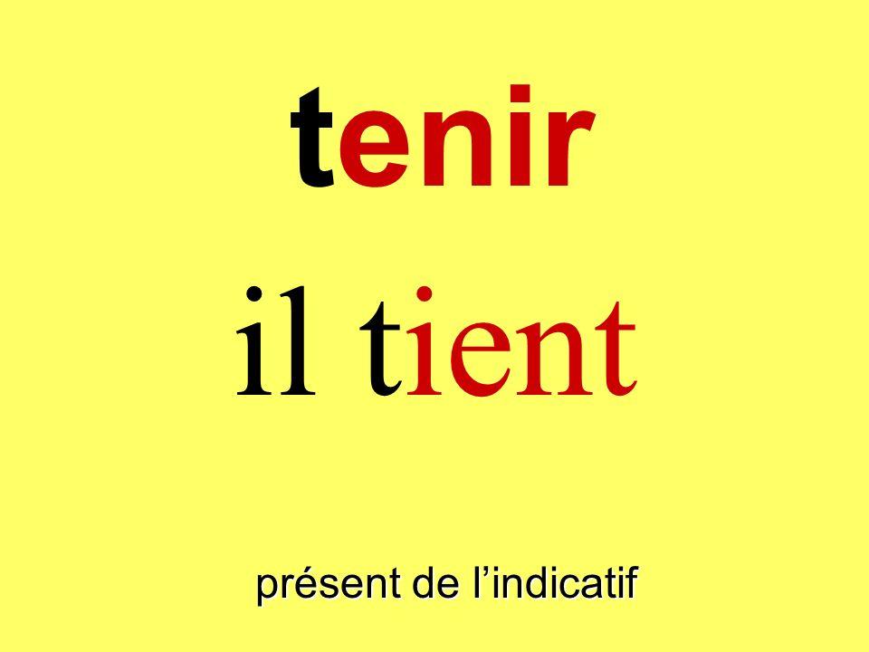 présent de lindicatif tu tiens tenir