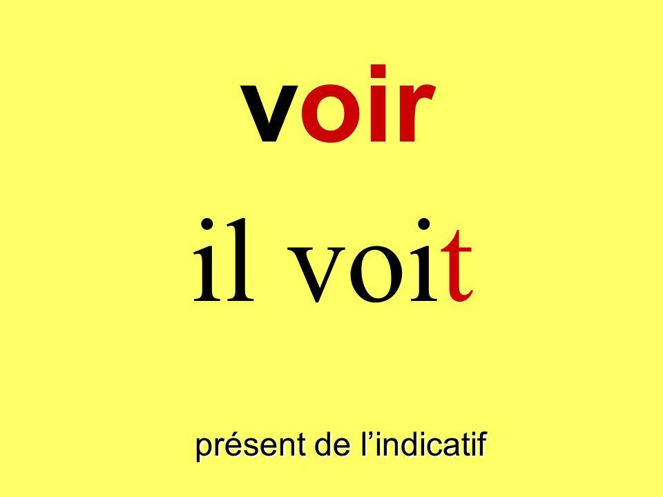 présent de lindicatif tu vois voir