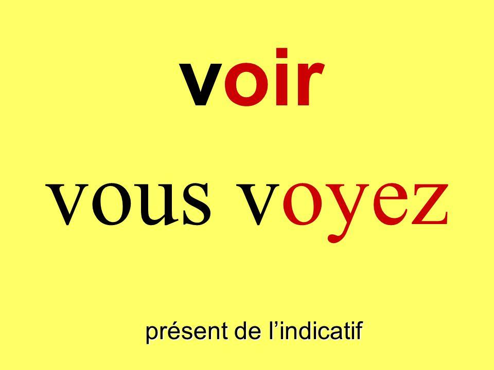 présent de lindicatif vous voyez voir