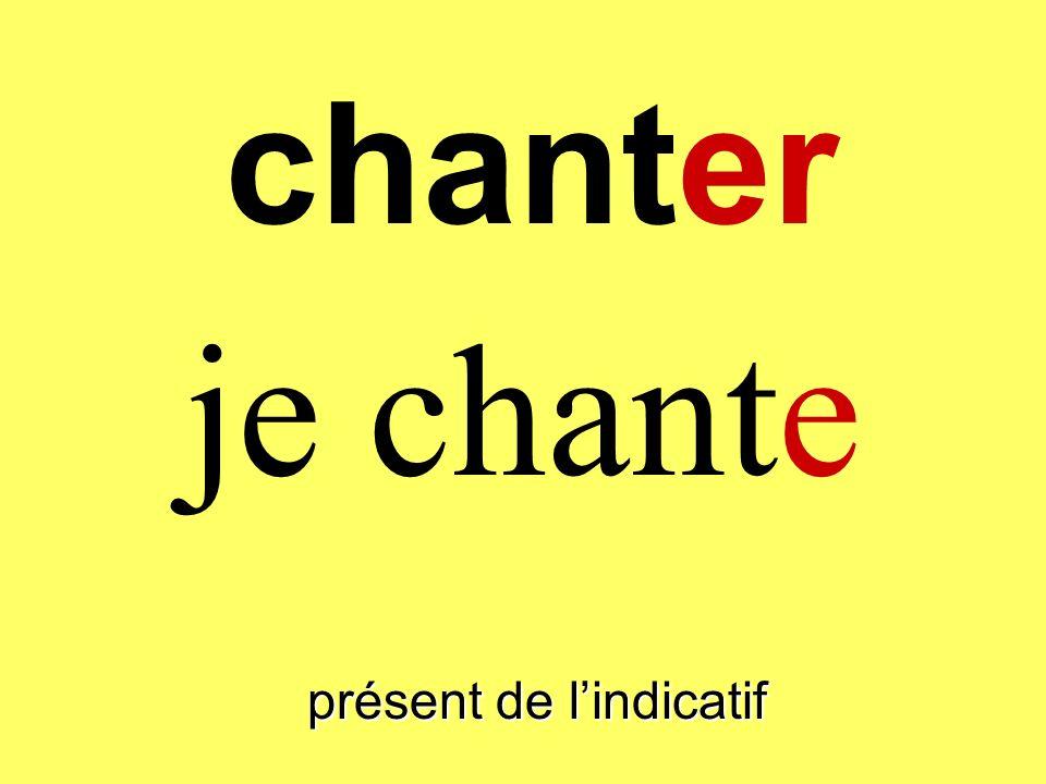 chanter présent de lindicatif