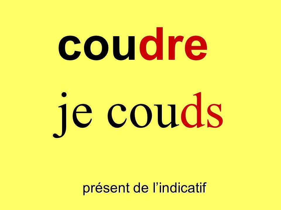 coudre présent de lindicatif