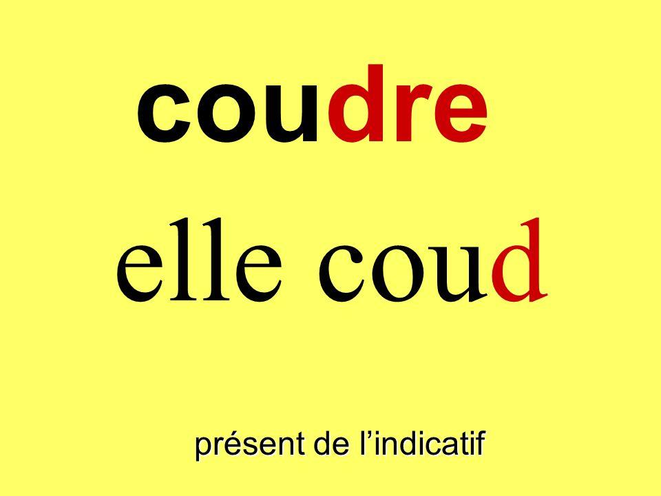présent de lindicatif il coud coudre
