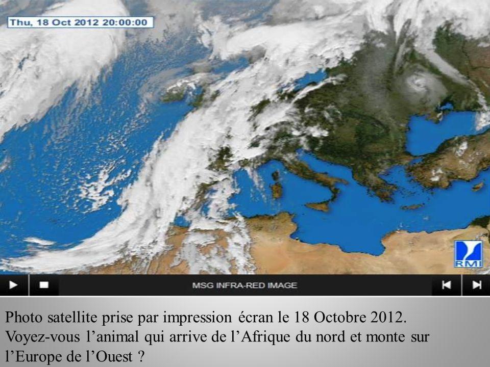 Photo satellite prise par impression écran le 18 Octobre 2012.