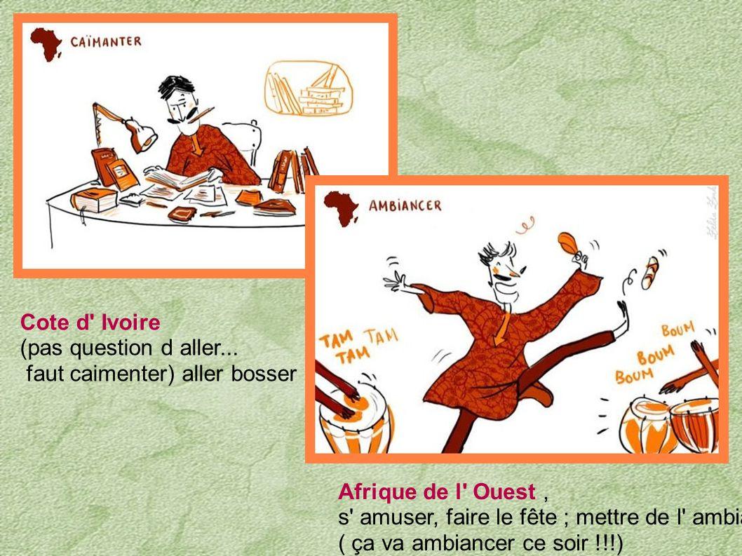 Burkina Faso... C' est dur, sur le chemin de la vie,il y a des cailloux, et l' on peut trébucher. Cameroun...C' est du mot à mot, quand un élève align