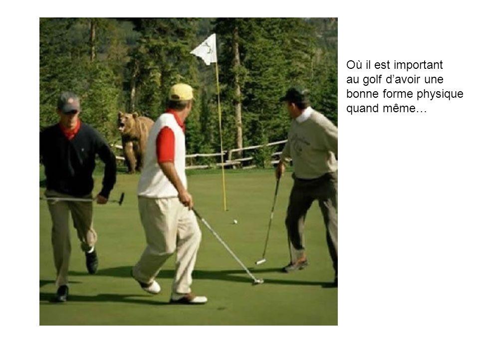 Où il est important au golf davoir une bonne forme physique quand même…
