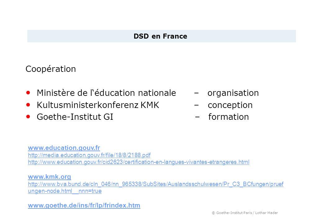 © Goethe-Institut Paris / Lothar Mader Coopération Ministère de léducation nationale – organisation Kultusministerkonferenz KMK – conception Goethe-In