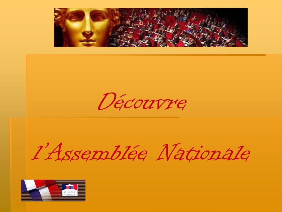 La constitution de notre pays donne à lAssemblée Nationale le pouvoir législatif, cest-à-dire de décider et de voter les lois de la République.