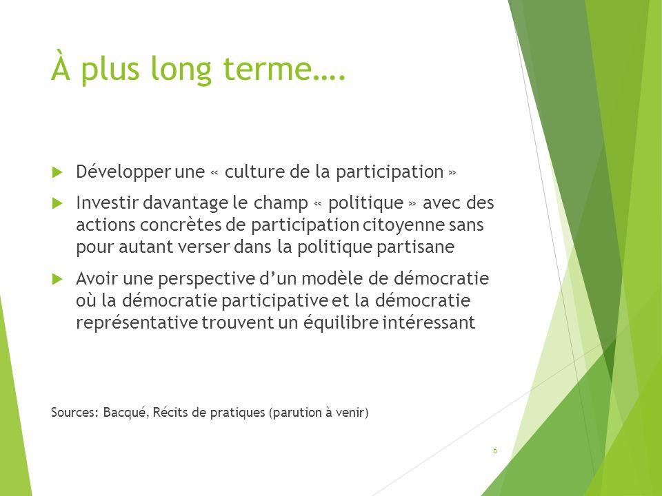 Questions 9- Les politiques publiques (gouvernementales) actuelles favorisent-elles le développement de la revitalisation intégrée .
