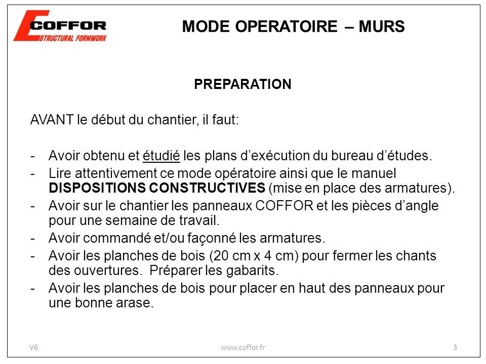 PREPARATION AVANT le début du chantier, il faut: -Avoir obtenu et étudié les plans dexécution du bureau détudes.