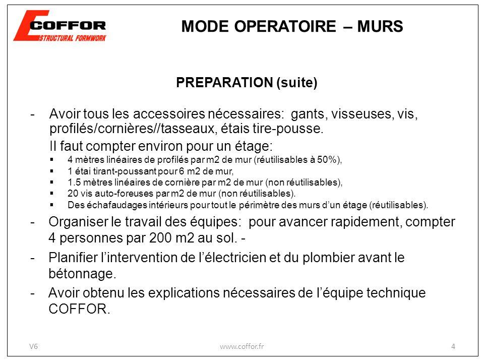 PREPARATION (suite) - Avoir tous les accessoires nécessaires: gants, visseuses, vis, profilés/cornières//tasseaux, étais tire-pousse. Il faut compter