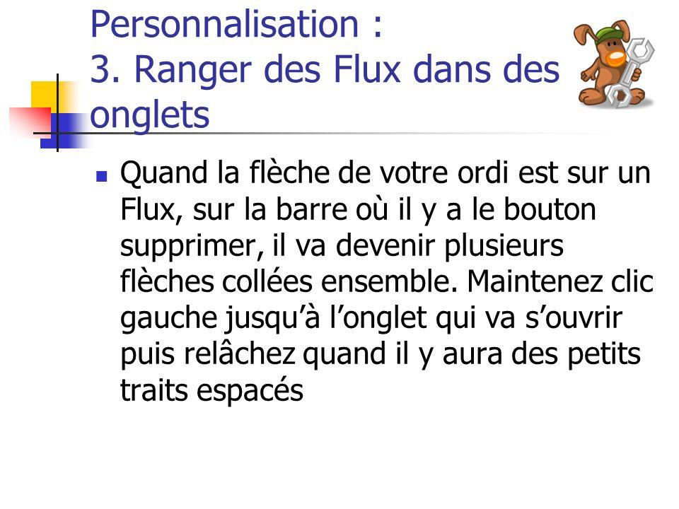 Personnalisation : 3.