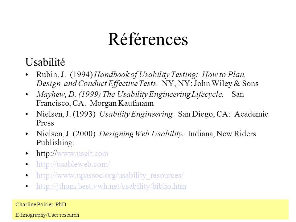 Références Usabilité Rubin, J.