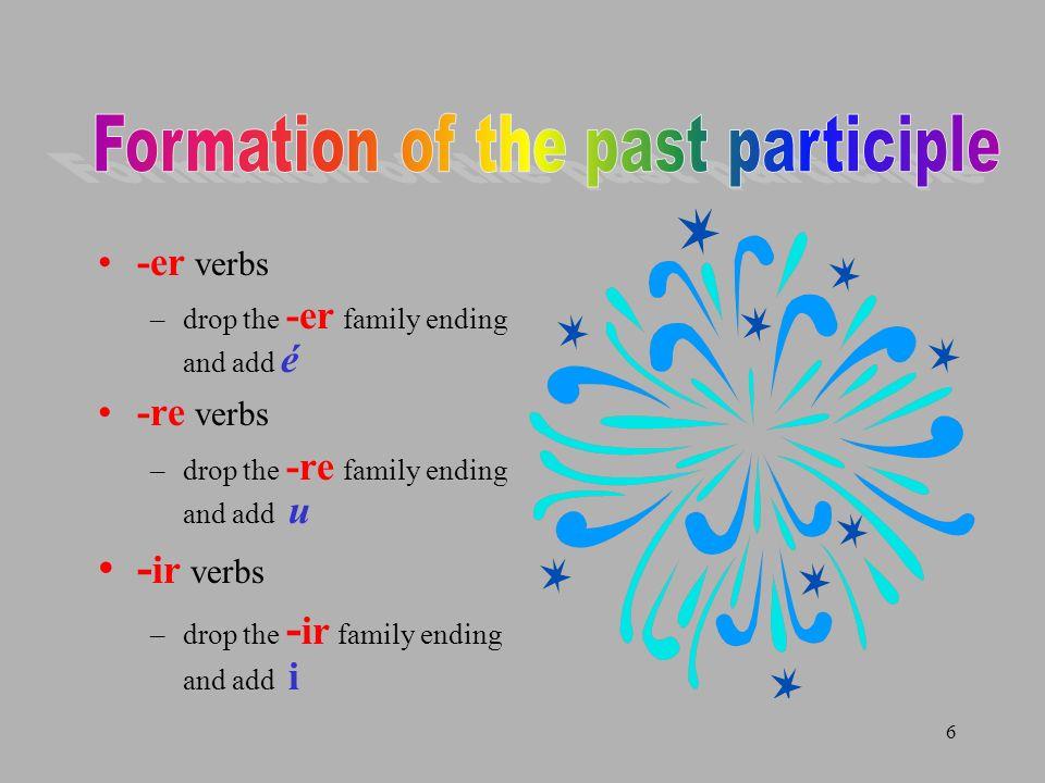7 Phrases that indicate the passé composé hier hier soir samedi dernier ce matin la semaine dernière le mois dernier lannée dernière