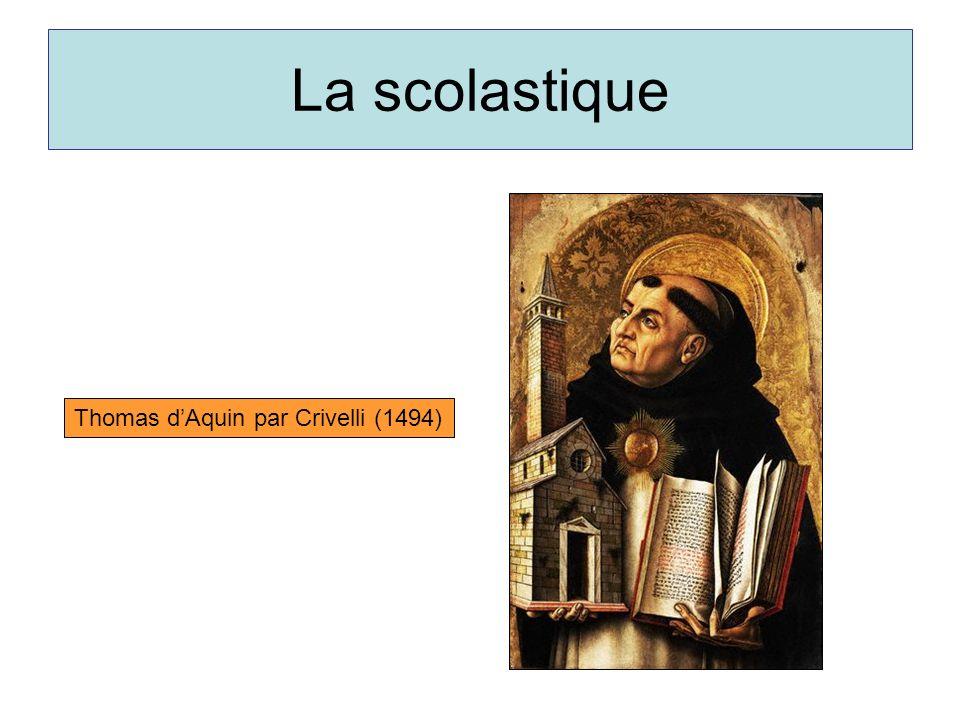 La scolastique Thomas dAquin par Crivelli (1494)
