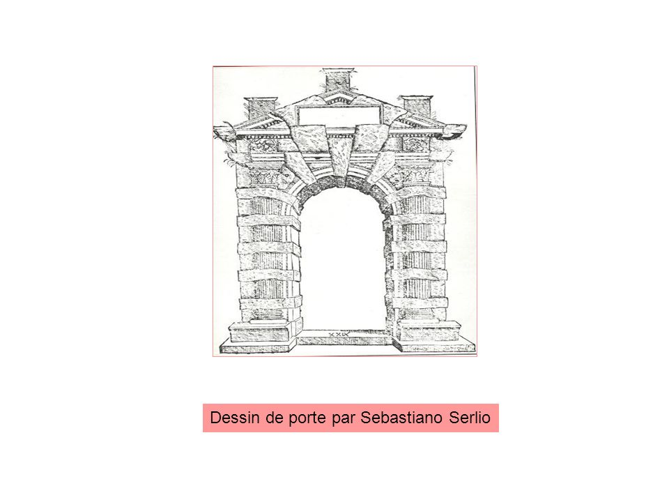Dessin de porte par Sebastiano Serlio